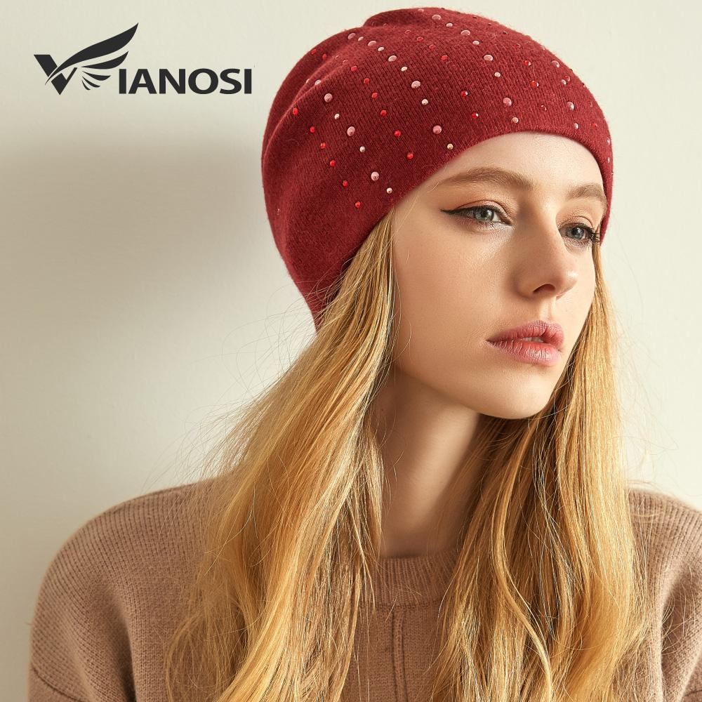 VIANOSI Winter Wool Hats For Women High Quality Knitted Brand Hat Cap Warm  Chunky Thick Stretchy Knit Beanies For Ladies Crazy Hats Mens Beanies From  Jutie d612d116e9e