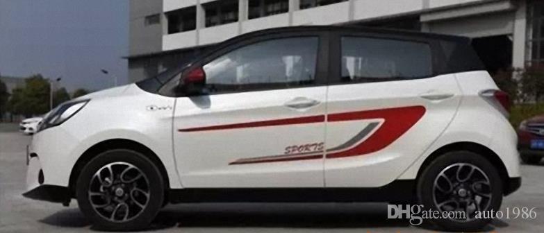 1 takım Araba Kamyon oto yarış kırmızı çerçeve spor güç bel Grafik Yan Çıkartması Vücut Hood Çıkartmalar