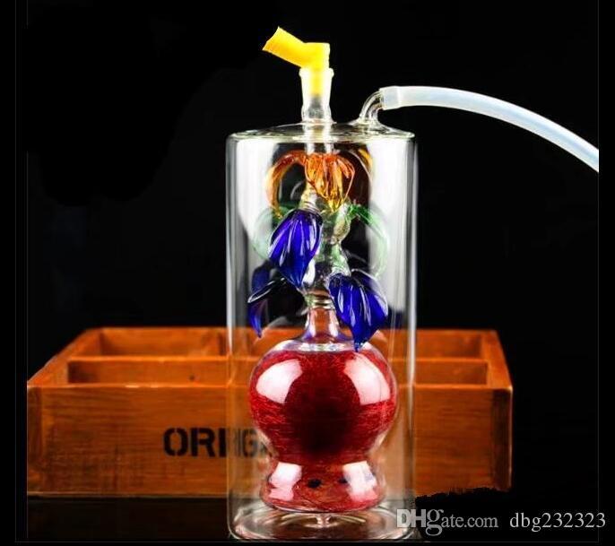 Botella de agua de vidrio de estilo múltiple, piezas de repuesto gratuitas