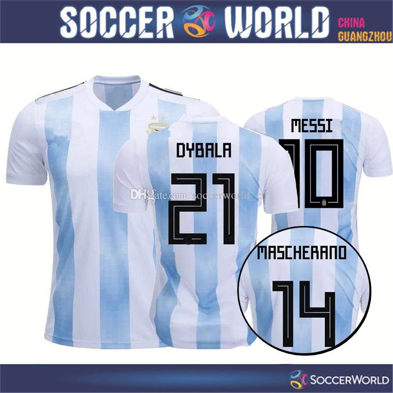 7d834fcab Argentina 2018 World Cup Argentina Soccer Jersey 2018 Argentina Home ...