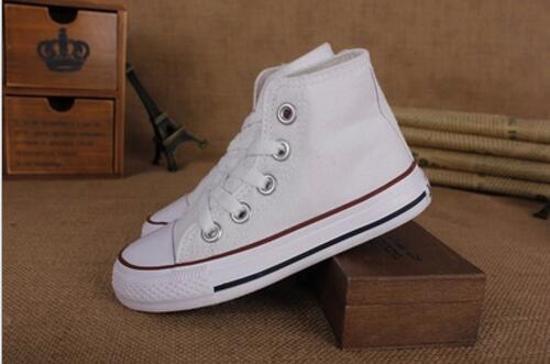 Promocional venta caliente niños zapatos de lona moda altos niños zapatos niños y niñas deportes clásico lienzo zapato tamaño 23-34