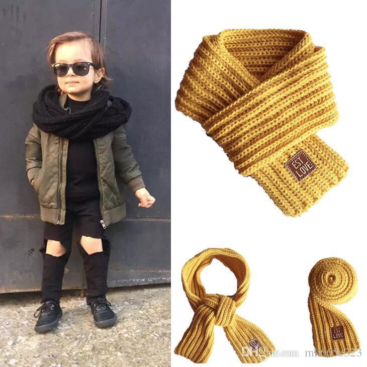 9afba8c479ae4 2019 Kids Scarf Autumn Winter Knitted Warm Thick Scarves Neck Warmer Baby  Boys Girls Fashion Neckerchief Neck Warmer From Mk665e323