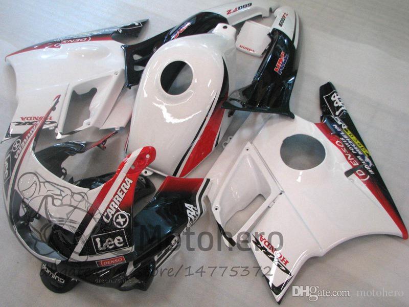 Motocycle fairings White Red for HONDA CBR600 F2 91 92 93 94 CBR600F2 1991 1992 1993 1994 CBR 600 custom fairings set L324423