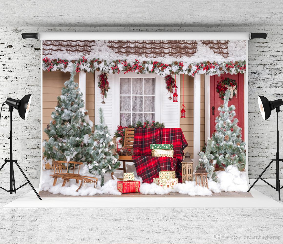 dream 7x5ft christmas backdrop for photography outdoor house backdrop prop children shoot backgrounds for family christmas photo studio christmas decor