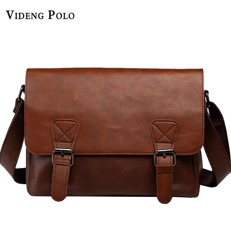 VIDENG POLO Famous Brand Leather Men Bag Casual Business Leather Mens  Messenger Bag Vintage Men S Crossbody Bolsas Male Cross Body Bags Handbags  Wholesale ... 9f6cf740847ac