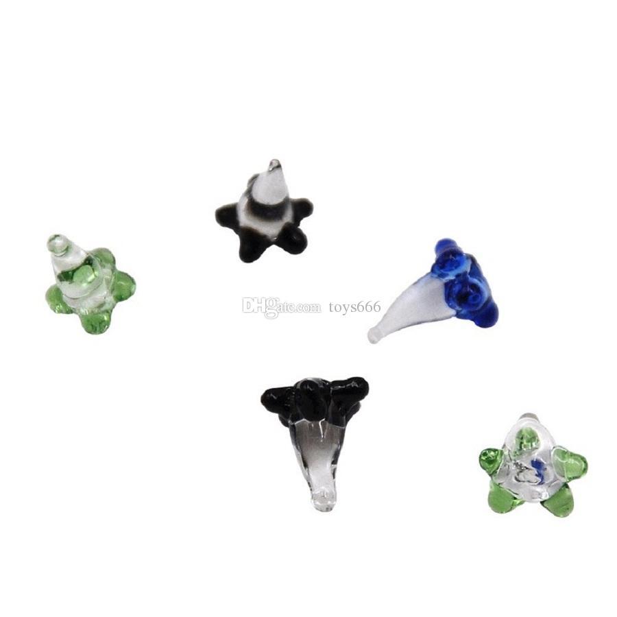 Mini Colorfull verre Accessoires pour fumeur Quartz Bangers verre de Hookah brûleur à huile Glass Pipe Bowl
