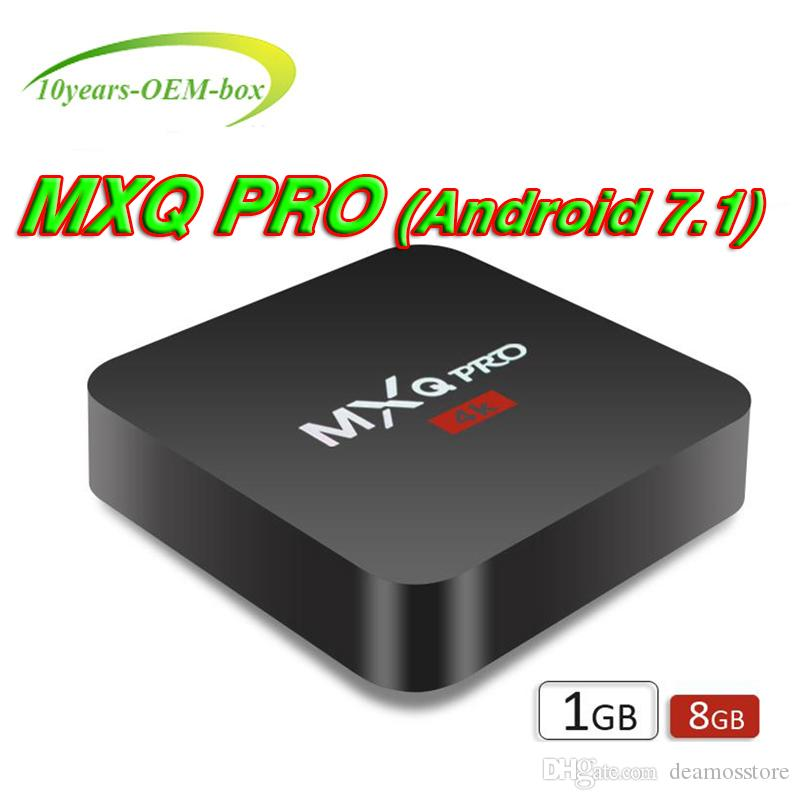 MXQ PRO 4K TV BOX Android 7.1 Quad Core Rockchip RK3229 Internet 4K 1GB 8GB WiFi 4K 3D Google Media Player Better S905W X96 Mini T95Z PLUS