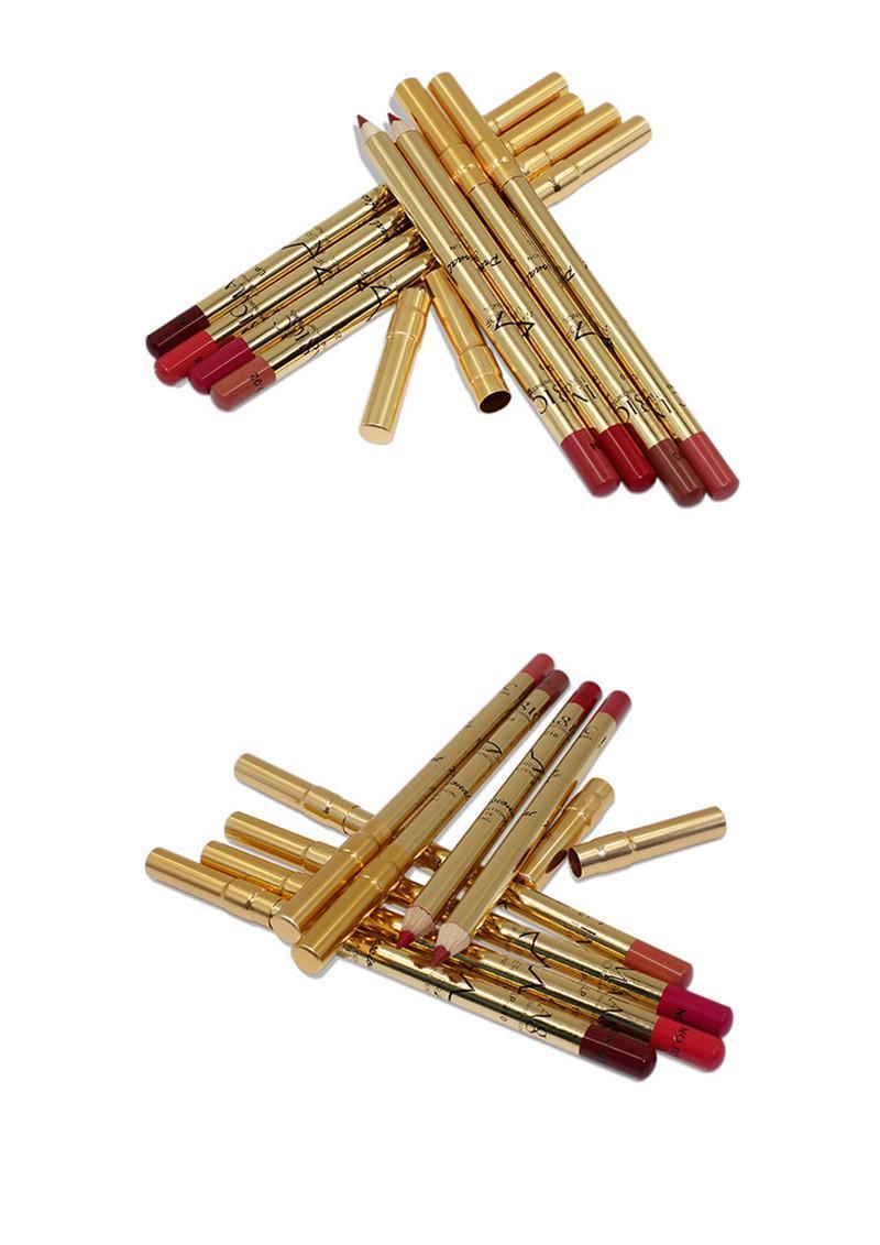 8 Renkler Dudak Kalemi Makyaj Seti Kiti Doğal Su Geçirmez Uzun Ömürlü Dudak kalemi Kalem Makyaj Kozmetik Aracı bea508
