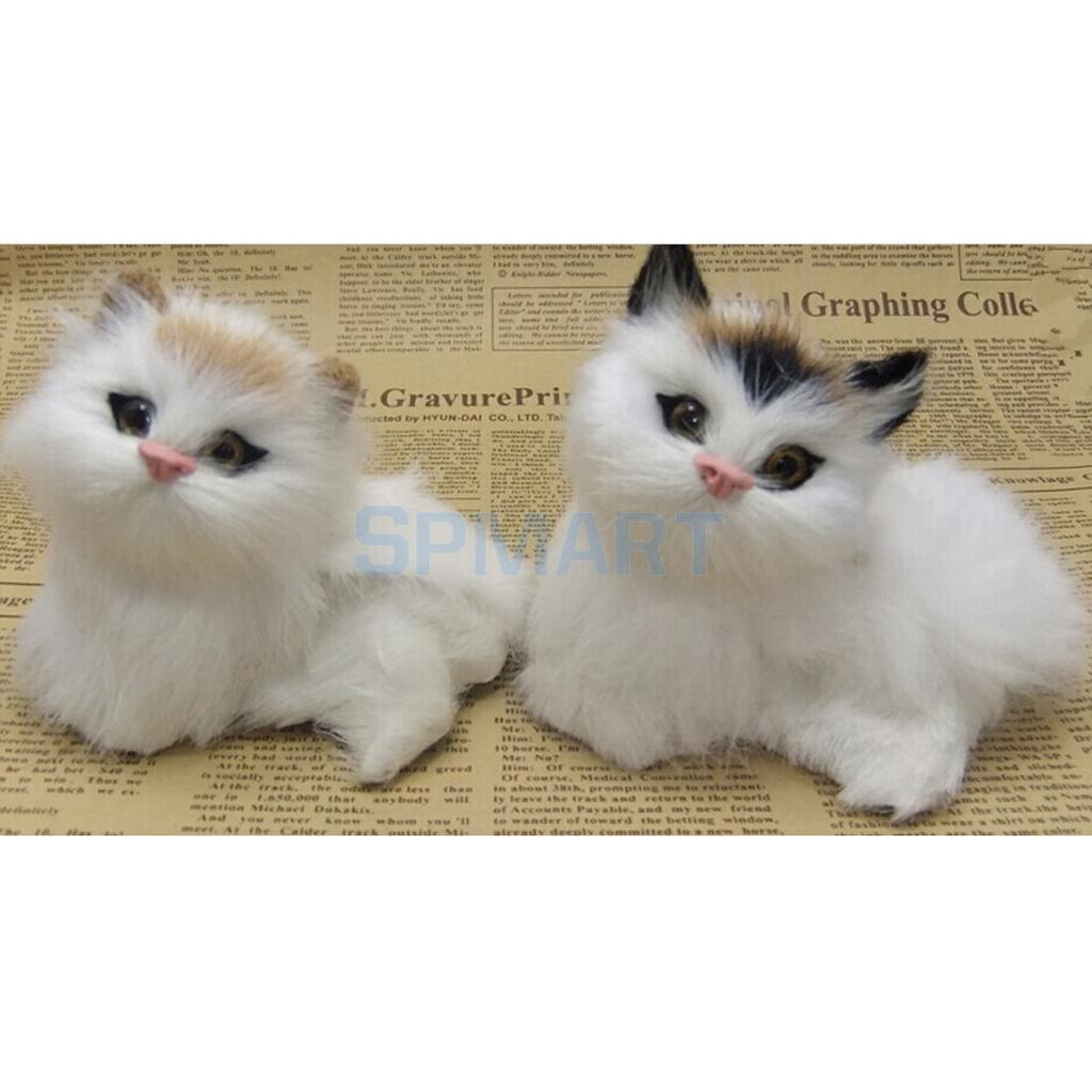 a66b8c17d3a9 2019 Cute Realistic Cat Toys Furry Interior Ornament Kids Gifts Simulation  Cat From Cassial, $33.07 | DHgate.Com