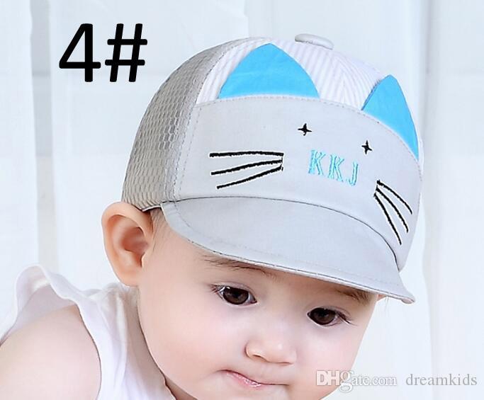 bebê menina bonito da orelha de canto boné de beisebol criança rebote verão ajustável chapéu de sol criança hip hop chapéu