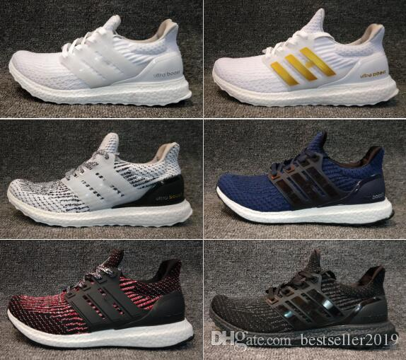 huge discount fe828 c93a7 Acheter 2018 Ultra Boost 3.0 4.0 Running Chaussures Hommes Femmes  Ultraboost Uncaged Primeknit Fonctionne Ultra Boosts Vert Parley Trainers  Sneakers 36 45 ...