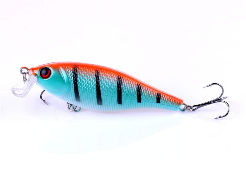 Simulazione 3D Pesce ABS Plastica Esca da pesca 9.5cm 13.5g Minnow Rattlin Esca emorragia laser