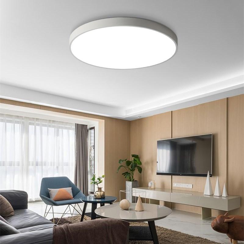 Acheter Plafond Led Ultra Mince Plafonnier Lampe De Chambre Simple ...