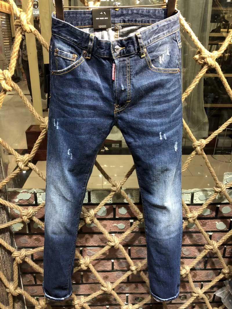 98fd8930e Compre Nueva Moda Jeans Hip Hop Rock Moto Para Hombre Ropa De Diseñador  Casual Apenado Ripped Skinny Denim Biker Jeans Hombres Pantalones D2 # 0133  A $96.86 ...