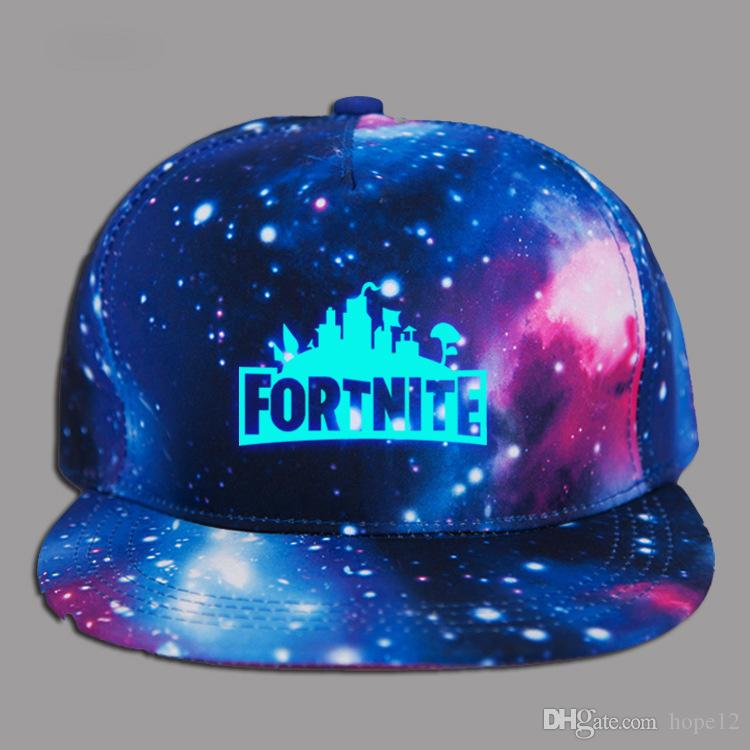 Glow in dark Children Boy girl Adult Fortnite baseball Caps with Blue Luminous Summer sun Hat Night Lights hats For AcrylicMen Women