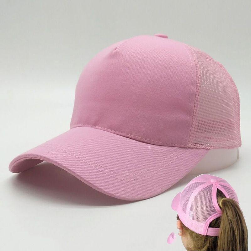 df06ddd43 Hot Sell Women Ponytail Baseball Hat Fashion Girl Softball Hats Back Hole  Pony Tail Drop Shipping Cheap Beanie Skull Caps Sun Hat DIY Caps
