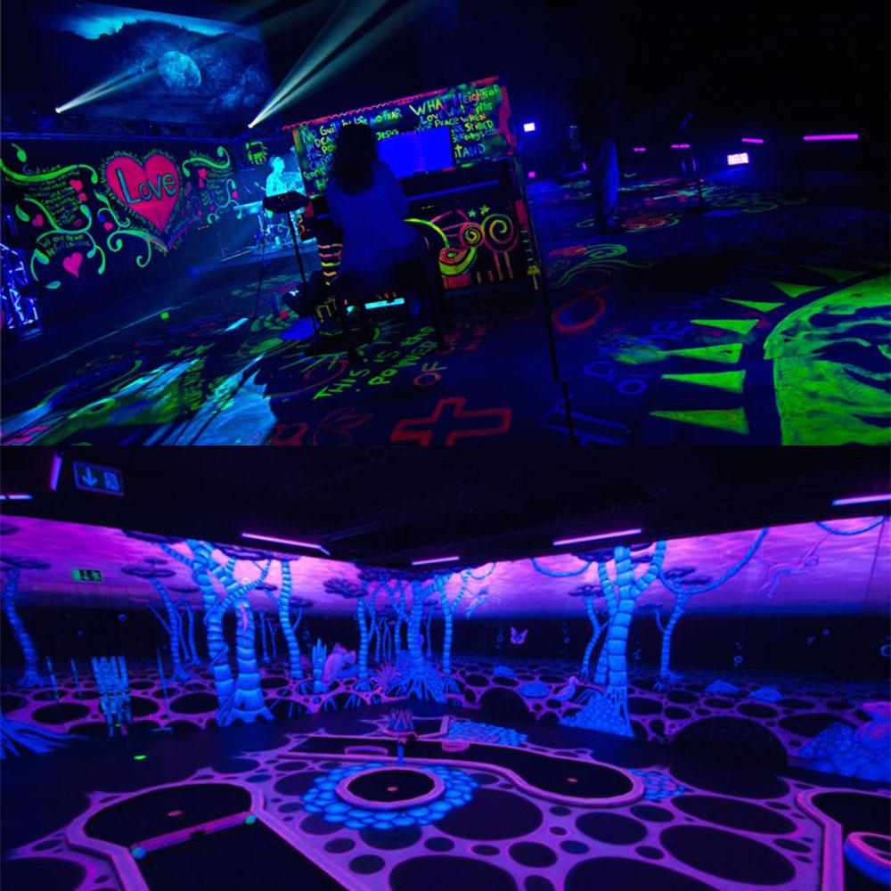 6ledx3w led wall washer uv adjustable blacklight bar stage light indoor decoration disco lamps EU/UK/US/AU plug