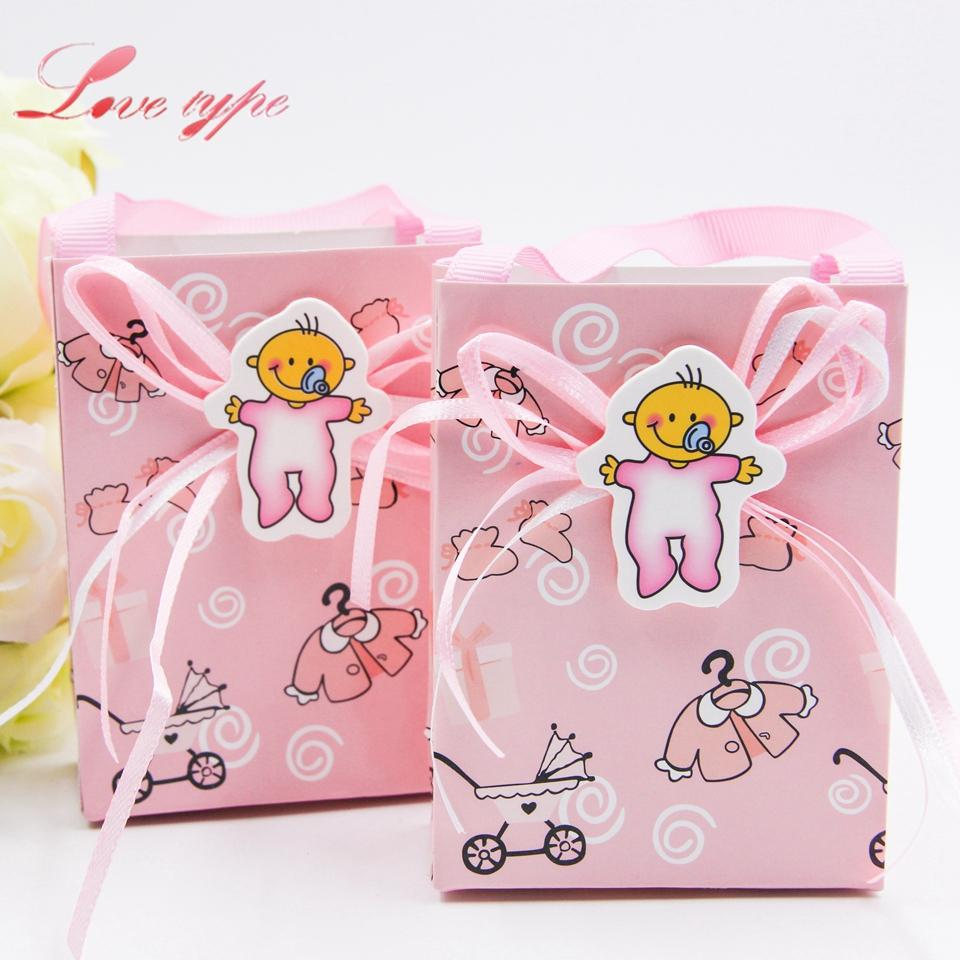 Baby Boy/Girl Gift Box Cute Candy Paern Diy Baby Shower Paper ...