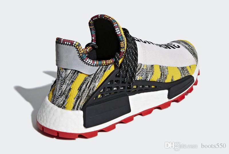 separation shoes d1b35 b274d 2018 Top Pharrell Williams x Originals NMD Hu Trial Solar Pack 3MPOW3R  Human Race Men Women Running Shoes Authentic Sneakers With Box BB9527