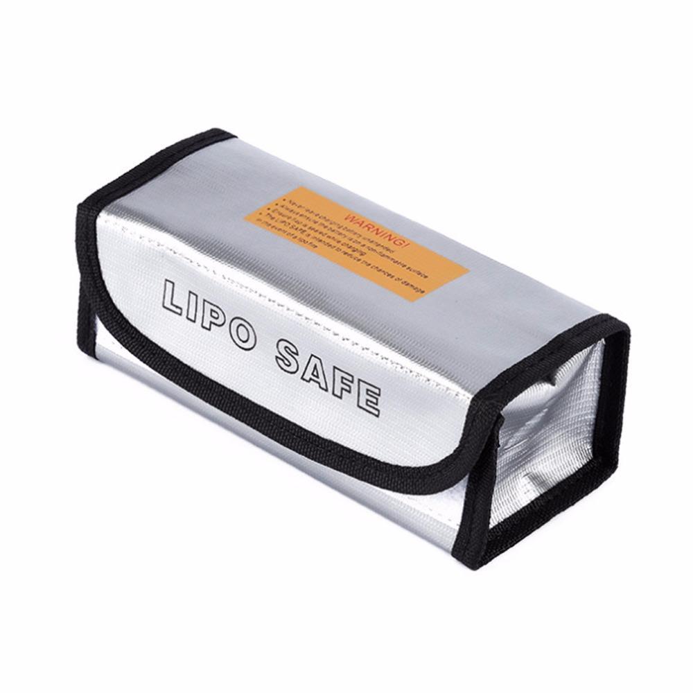 RC LiPo Battery Fireproof Safety Bag Guard Charge Sack Protection Box Bag Lipo Guard Bag Silver 185*75*60mm Hot Fire Retardant