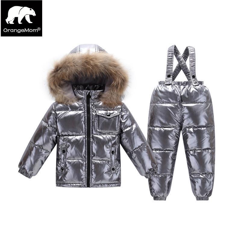9c0974cdb 2018 Orangemom Official Store Winter Children S Clothing Sets Down ...