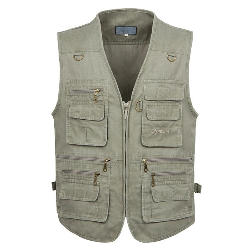 85 5XL 6XL 7XL New Male Casual Summer Big Size Coon Sleeveless Vest With Many 16 Pockets Men Multi Pocket Photograph Waistcoat