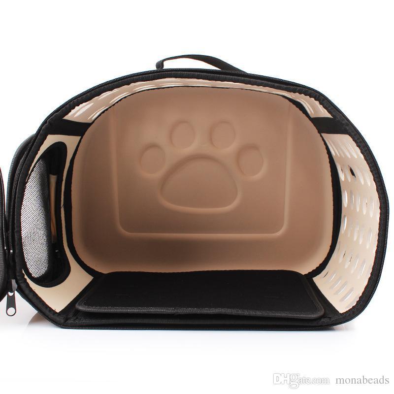 Lindo Hombro Plegable Pet Dog Carrier Puppy Llevar Bolsas de Viaje al Aire Libre para Pequeñas Bolsas para Perros Suave Mascotas Dog Kennel Pet Products