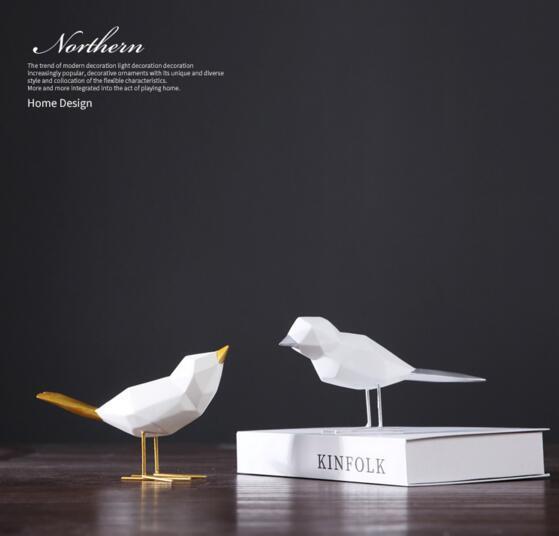 Mascotte oro uccello decorazione di nozze campione camera home decor uccelli regalo classico