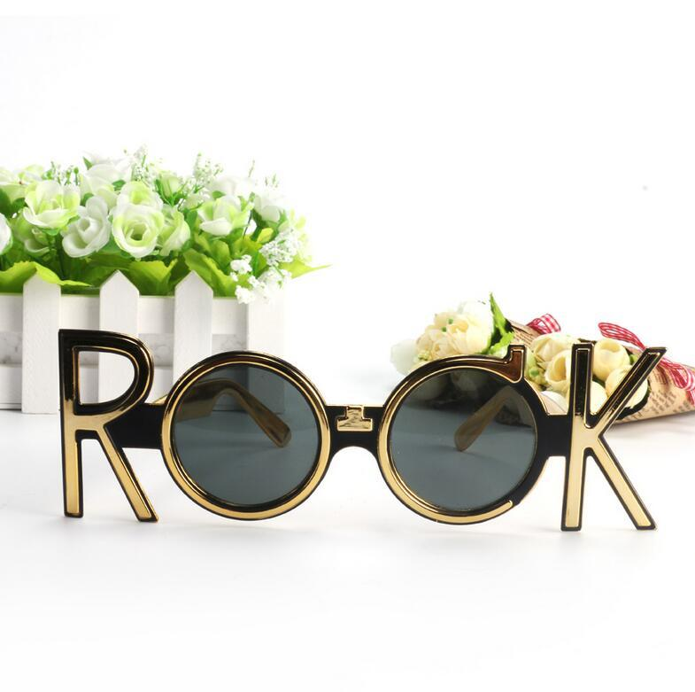 bbd8d49138f9 Gold Rock Costume Glasses Novelty Sunglasses Night Party Favors Concert  Celebration Eyewear Props Party Supplies Decoration Gift Novelty Face Masks  Order ...