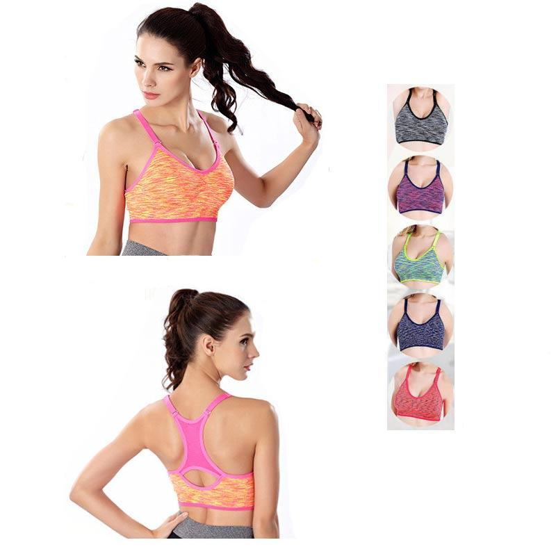 c2c1ce5023fda 2019 Women Yoga Bra Sports Bra For Running Gym Fitness Athletic Bras Padded  Push Up Tank Tops For Girls Woman From Hcaihong