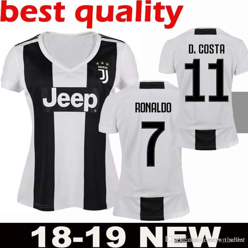 3aa4fffd1 2019 Woman Juventus Soccer Jersey 18 19 Home 7 Ronaldo Soccer Shirt  CHIELLINI HIGUAIN DYBALA MANDZUKIC Girl Football Juventus Soccer Jersey  Ronaldo Soccer ...