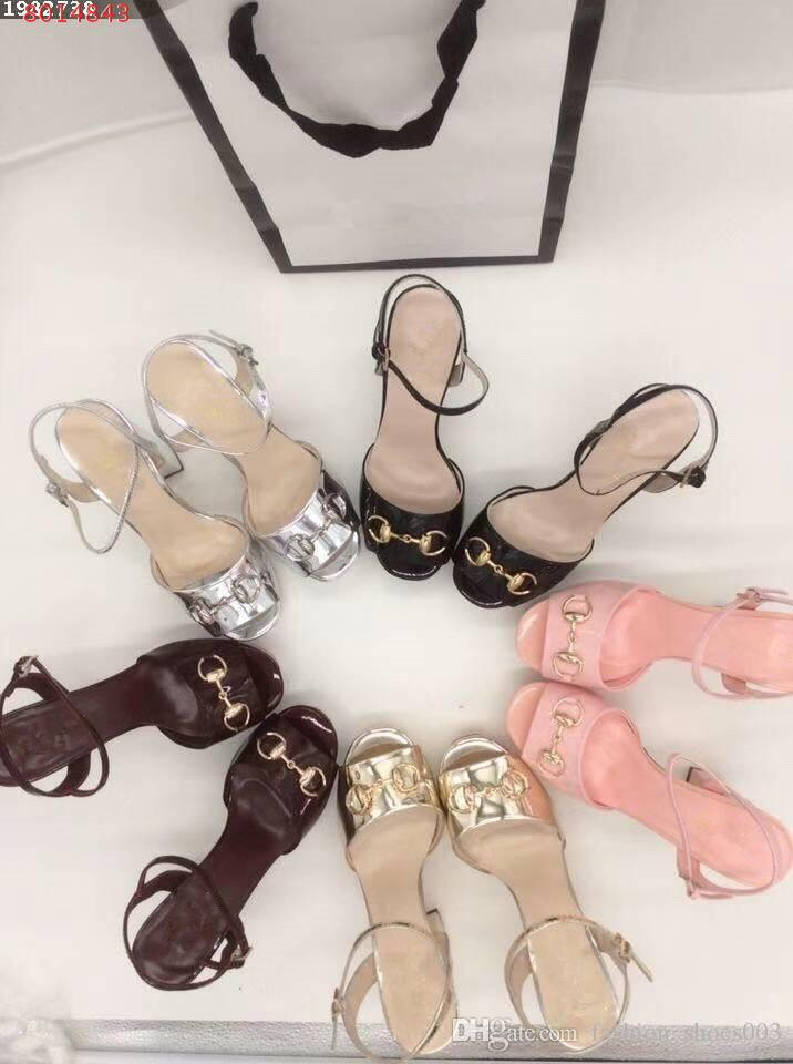 2018 Designer women high heels party fashion girls sexy pointed shoes Dance shoes wedding shoes Double straps sandals
