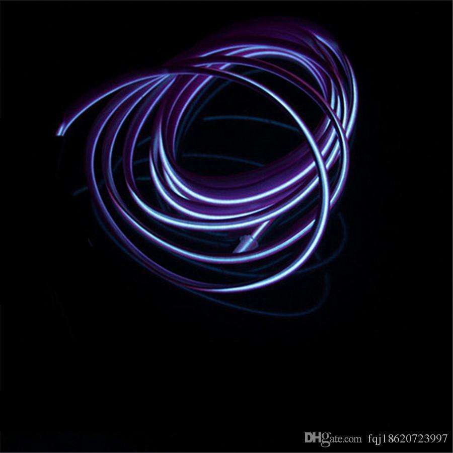 Super Bright Illumination Auto Car Interior LED EL Wire Rope Tube ...