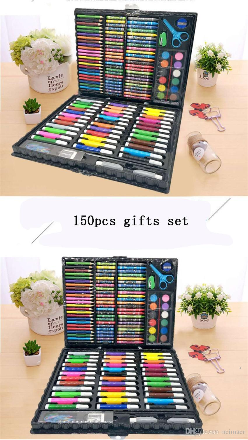 Stationery set children's painting art supplies,Drawing Coloring Drawing Pen Watercolor pen Crayon Coloured pencils Oil paintings Suit