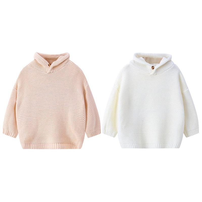 64361dfdcc43 Children Sweaters Baby Infant Girls Boys Autumn Winter Pure Color ...