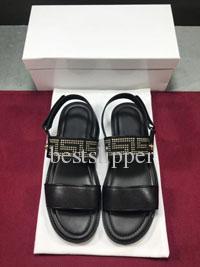 Ünlü Tasarım Elmas Medusa Siyah Deri Slayt Sandal Terlik Moda Erkekler Kutusu ile Klasik Terlik Yaz Çevirme Erkek Plaj Sandalet