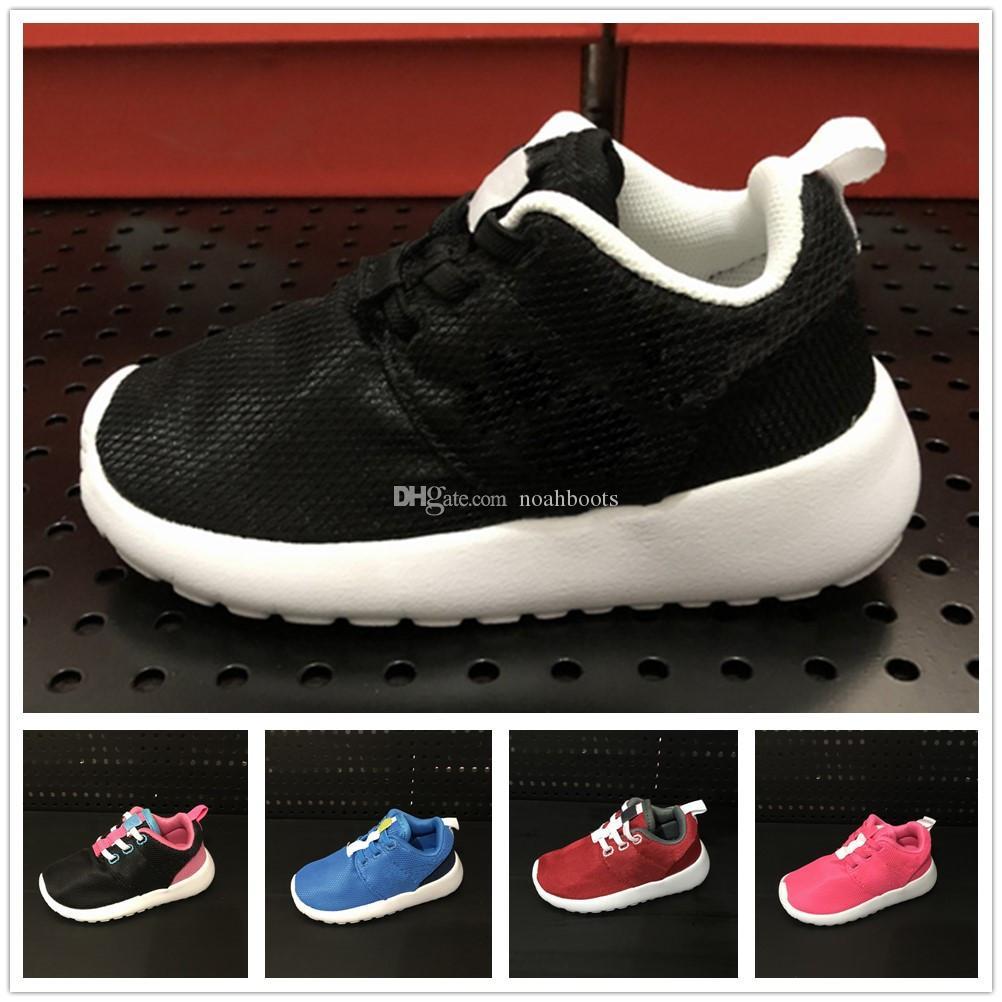 hot sale online 71dce 13b84 Acheter Nike Roshe Run Rosherun Designer Enfants Confortable Chaussures  Sport Enfant Garçons Chaussures De Course Pour Filles Wearable Trainers  Baby Bebes ...