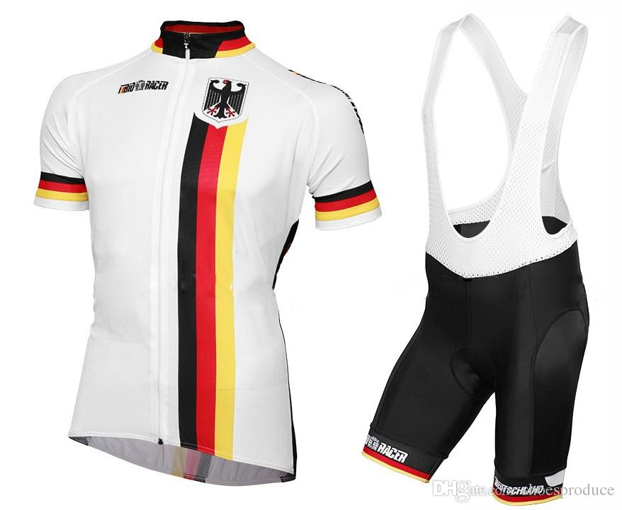 746710355 2019 Germany National Cycling Jerseys Bib Gel Set Short Sleeve MTB Mountain  Bike Clothing Road Bicycle Wear Breathable Maillot Culotte 9D Gel Pad From  ...