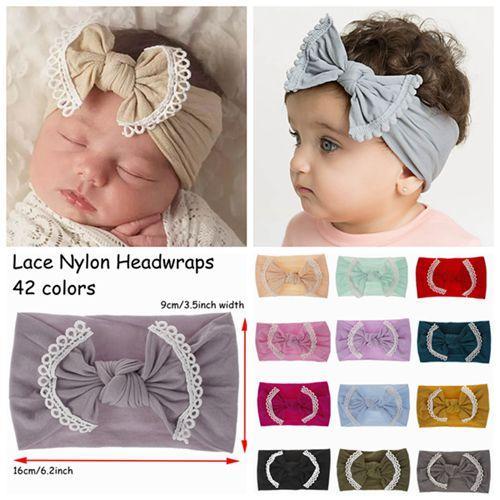 2e327e0d62ee 2018 Jojo Siwa Bows Headbands Cute Baby Girls Soft Nylon Headwraps ...