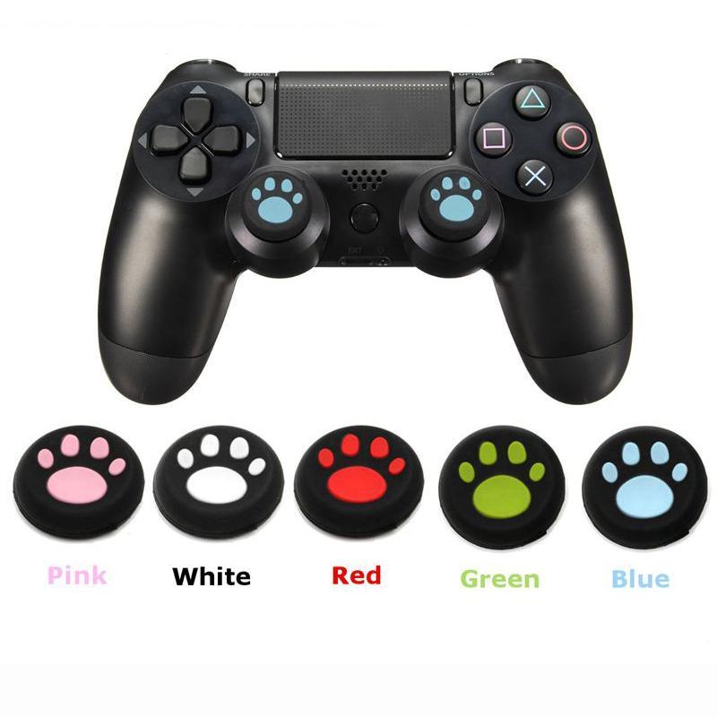 لطيف PS4 سيليكون الجلد المقود غطاء القضية كاب القط الكفوف للPS4 بلاي ستيشن تحكم 4 PS4 لاسلكية لأجهزة إكس بوكس واحد