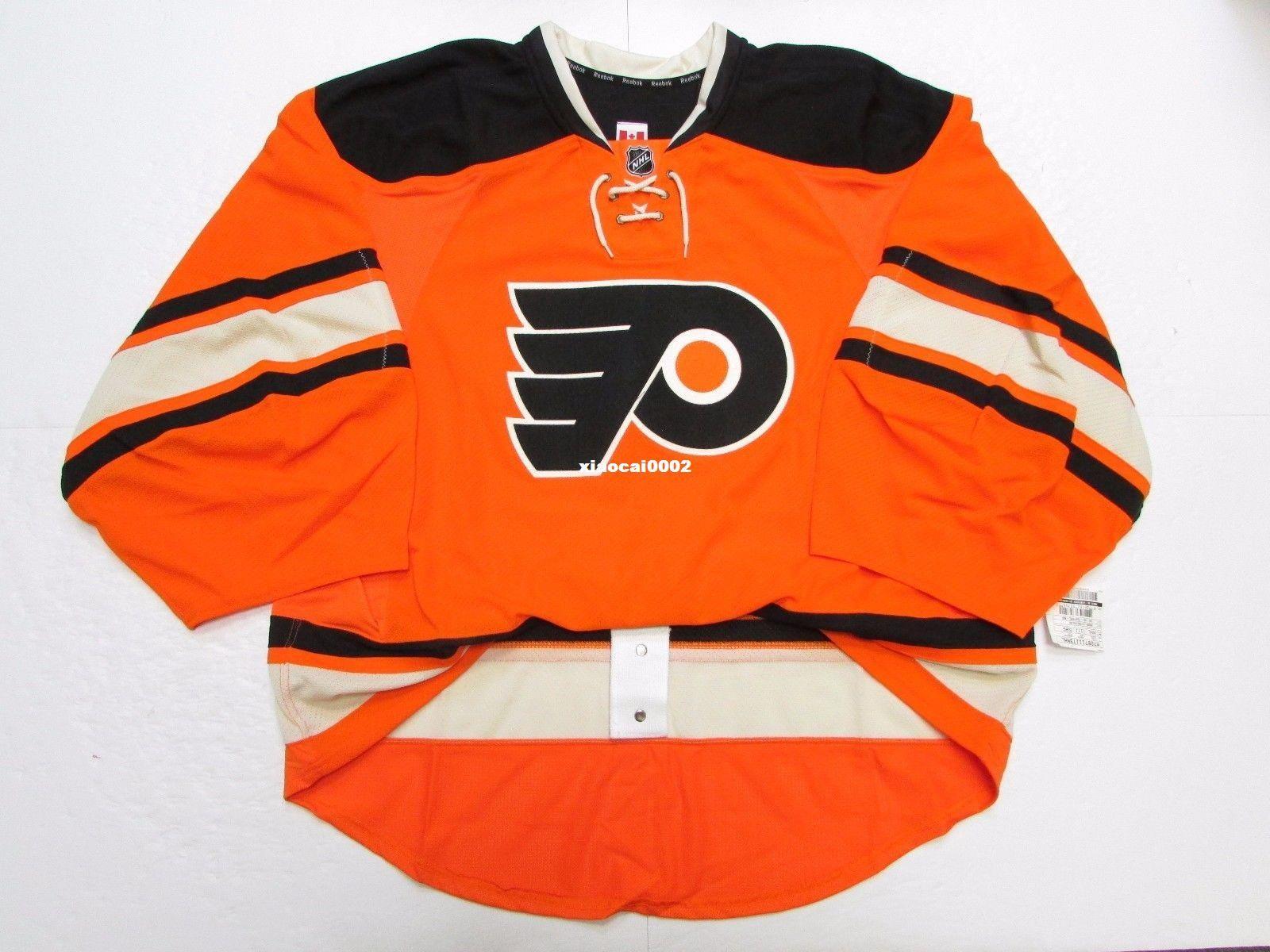 100% authentic 01954 6ea0e Cheap Custom PHILADELPHIA FLYERS AUTHENTIC THIRD EDGE JERSEY GOALIE CUT 60  Mens Stitched Personalized hockey Jerseys