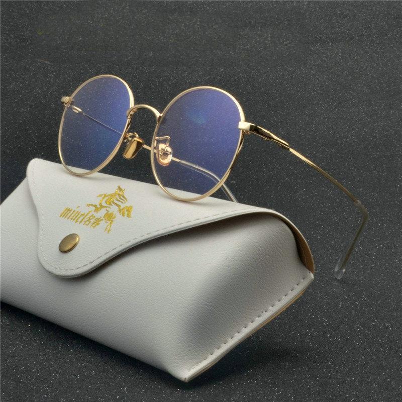 431c5b6595 2018 Round Frame Glasses Vintage Woman Glasses Frame Classic ...