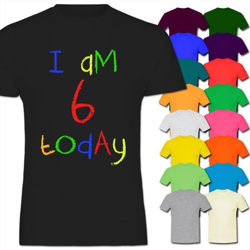 Großhandel Ich Bin Heute 6 Kinder 6 Geburtstag Des Kinderjungen