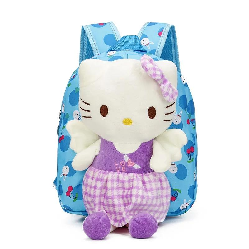 76c8e98ff97 ... Lovely Cute Baby Dolls School Bag Plush Hello Kitty Kindergarten  BackpacGirls Cute Toys Backpack Children Birthday ...