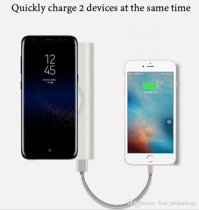 10000 mah power bank carregador de bateria externa de carga rápida carregador sem fio powerbank portátil carregador de celular para iphone 8 8 plus x samsung