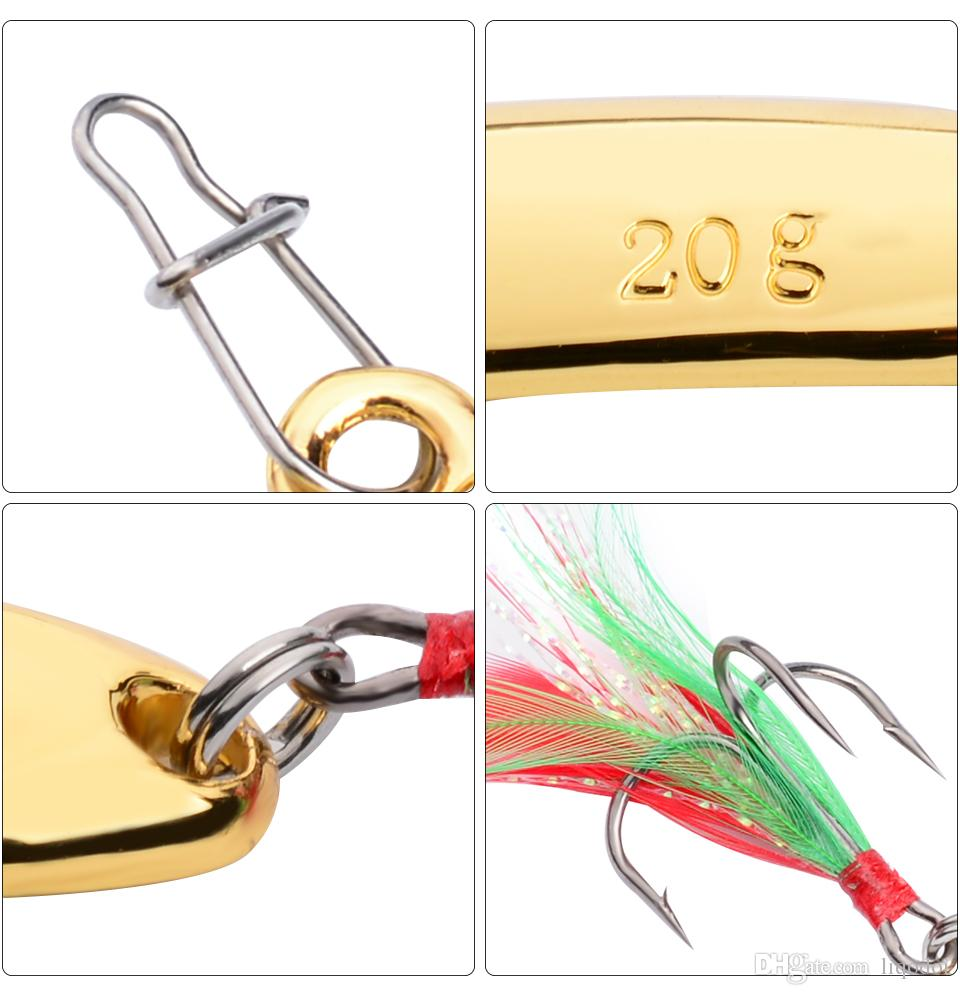 Señuelo de cuchara de metal plantilla cebo de Crankbait de fundición de platina de cucharas con la pluma de Triples de la trucha de los cebos Spinner