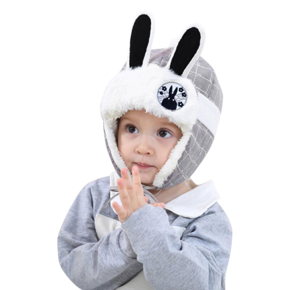 f864434b 2019 Cute Toddler Kids Girl&Boy Hat Winter Warm Cartoon Rabbit Ears Crochet Knit  Hat Beanie Caps Hats For Girls Childrens From Pineappleg, $36.14   DHgate.
