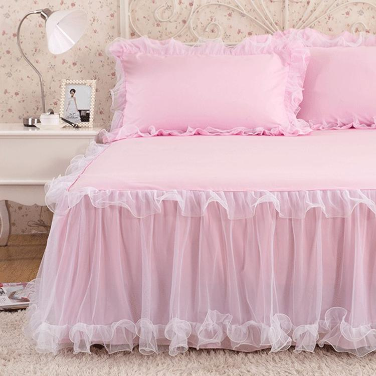 Luxury Rufflled Bedspread Romantic Lace Bed Skirt Bed Sheet Handmade Bedspreads Twin Bed Skirts Queen Size