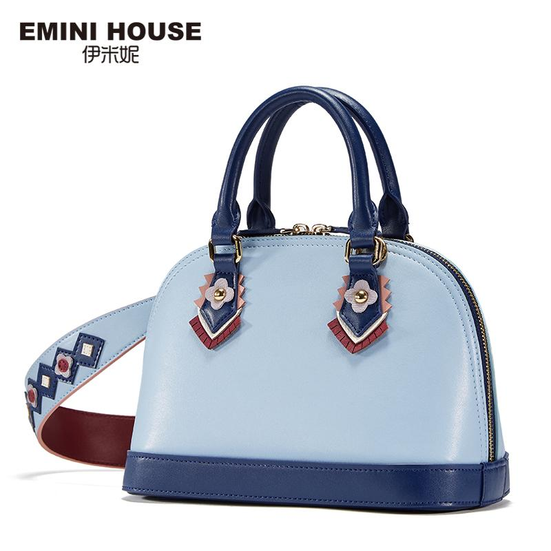 5da7bed6a5 EMINI HOUSE Indian Style Shell Bag Split Leather Shoulder Bag Crossbody Bags  For Women Luxury Handbags Women Bags Designer Wholesale Handbags Cheap  Handbags ...
