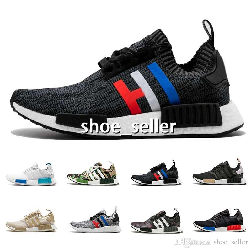 3a76d8ddf 2018 NMD R1 Oreo Runner Nbhd Primeknit OG Triple Black White Camo Running  Shoes Men Women Nmds Runners Xr1 Sports Shoe Size 5 11 Best Trail Running  Shoes ...